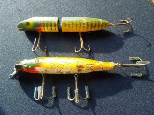 Vintage musky lures ebay for Vintage fishing lure identification