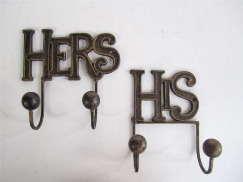 His Hers Hooks Ebay