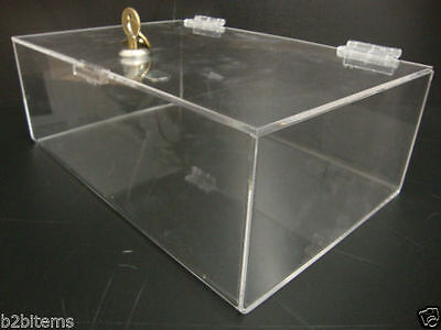 Ds-acrylic Lucite Countertop Display Show Case 12 X 9 X 5 Locking Safe Box