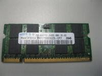4Gb Laptop RAM (2 x 2gb Samsung DDR2 Ram PC2-6400u - 666-12)