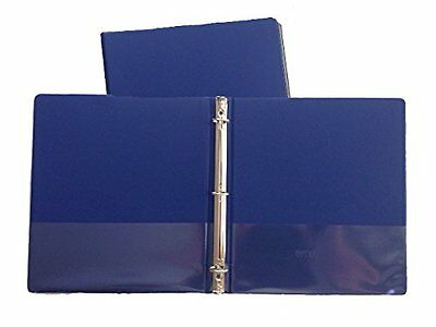 Blue Vinyl Standard 3-ring Binders 1-inch For 8.5 X 11 Sheets 2 Pack