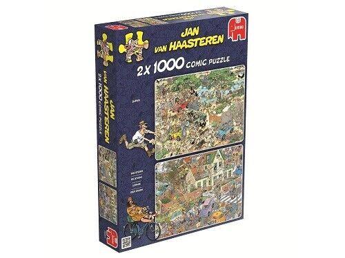 Jumbo Jan Van Haasteren 2 x 1000 Piece Jigsaw Puzzles - Safari & Storm