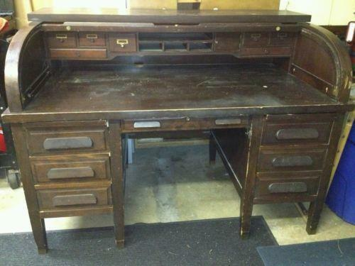 - Vintage Roll Top Desk EBay