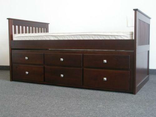 Twin captains bed ebay - White twin captains bed with drawers ...