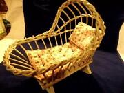 Wicker Doll Cradle