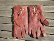 Mens Brown Leather Gloves