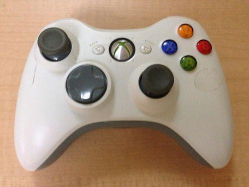 use xbox 360 controller white ebay. Black Bedroom Furniture Sets. Home Design Ideas