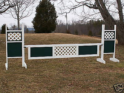 "Horse Jumps Center Panel Lattice Wooden Gate -12ft x 18"" - Color Choice #308"