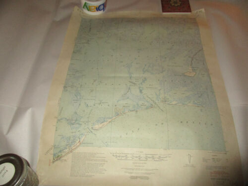 Vintage 1948 Edition Map Fort Livingston Louisiana Corps of Engineers US Army