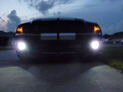 Shelby Gt500 Lamp - 2005-2014 Ford Mustang Shelby GT500 Blue Halo Fog Lamp Angel Eye Driving Light