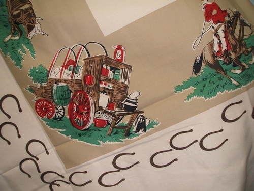 Cowboy Tablecloth Ebay