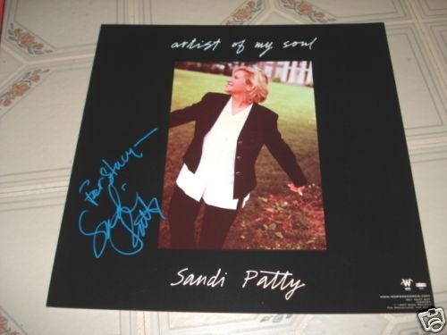 Sandi Patty Signed Autograph Promo Lp Photo Flat 12x12