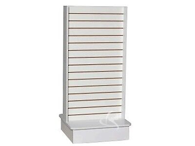Slatwall Unit Tower White Knock Down Display Store Fixture Sc-swtw