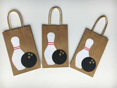 Bowling Favor Bags (10 PC Bowling Goofy Gift Bags Party Favors Candy Treat Birthday)