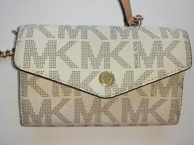 Michael Kors MK Jet Set Signature beige/cream Small Crossbody Chain Wallet Bag
