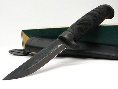 MARTTIINI Black CONDOR TIMBERJACK Fixed Carbon Steel Knife + Sheath 578013 New!