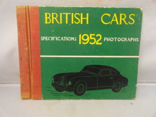 British Cars Specifications Vintage 1952 Photographs by Peter Chambers London