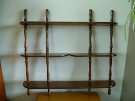 Small wall shelf: What not: Wooden: Vintage