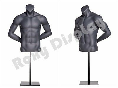 Fiberglass Male Mannequin Dress Form Display Torso Half Body Clothing Mz-ni-7