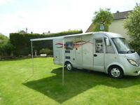 HYMER EXSIS 522 - 2009 5 BERTH FORD CHASSIS 2.2 TDi, 23500 MILES £29990 ONO