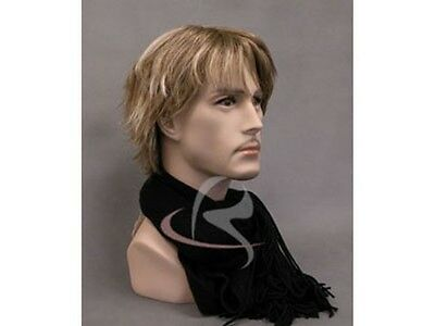 Mannequin Head Bust Wig Hat Jewelry Display Male MD-JackF1