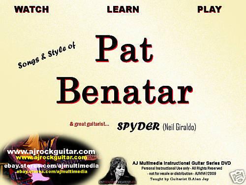 Custom Guitar Lessons, Learn Pat Benatar