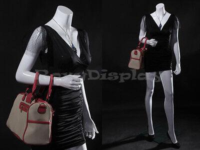 Female Fiberglass Headless Style Mannequin Dress Form Display Mz-lisa7bw