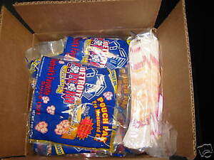 Popcorn Serving Kit for party of 100 (Includes Bags/salt/seeds/oil)