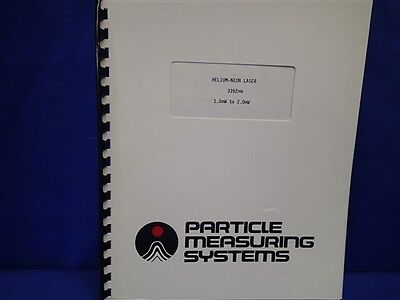 Particle Measuring System Helium-neon 3392nm Manual