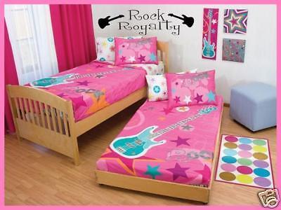 (ROCK ROYALTY Girls Teen Bedroom Vinyl Wall Art Decal)