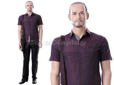 Male Fiberglass Realistic Mannequin Dress Form Display Mz-mik04