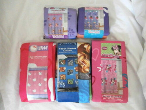 Kids Character Shower Curtain - Disney Skylanders Hello Kitty - You Choose NIP