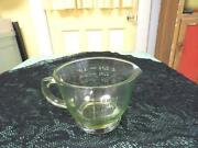 Vaseline Glass Measuring Cup