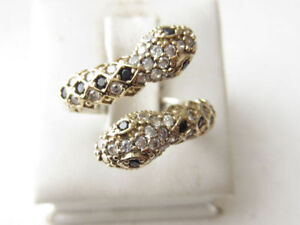 Solid 925 Sterling Silver Snake Rings Adjustable Size 5-10 Cambridge Kitchener Area image 2