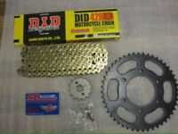 Yzf r125 gold did chain and sprockets