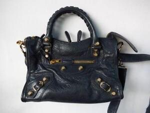 Balenciaga City Bag Navy Blue