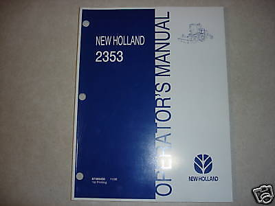 New Holland 2353 Disc Mower Windrower Owners Manual