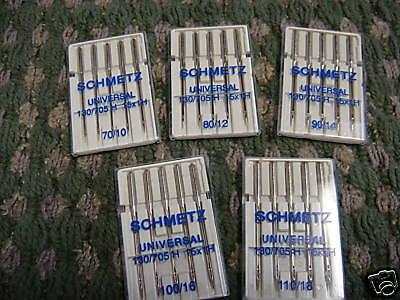 Sewing MACHINE Needles Schmetz 15X1H 130/705 Universal 10/70,12/80,14/90,100/16