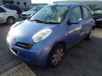 NISSAN MICRA K12 DAMAGED SALVAGE BREAKING SPARE PARTS 2002-2010