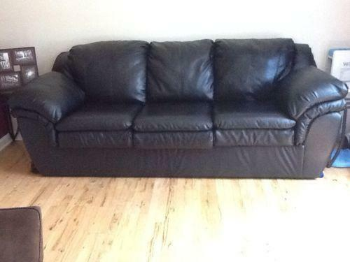 Black Leather Couch Sofas Loveseats Chaises Ebay