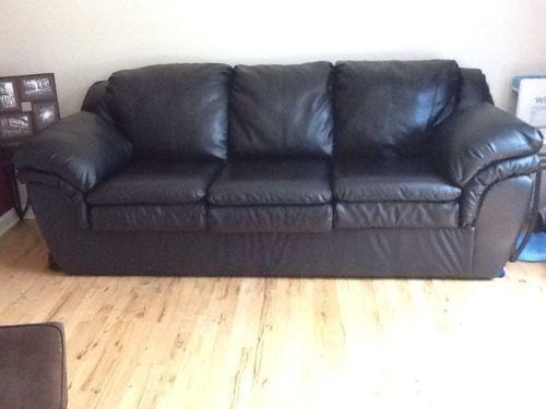 Black Leather Couch Sofas Loveseats Amp Chaises Ebay