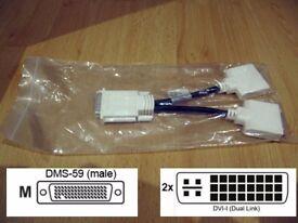 NEW MOLEX 887-6853-00 DMS-59 TO DUAL DVI SPLITTER CABLE