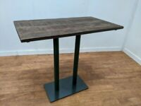 New Heavy Duty Bespoke Hand Crafted Poseur Table 1250x700mm Restaurant Bar Pub