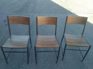 3 WEST ELM CHAIRS - GOOD CONDITION!