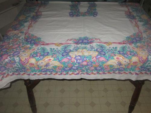 Easter Egg Tablecloth Ebay
