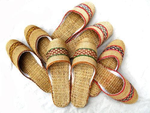 Straw Slippers Ebay