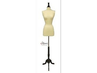 Size 2-4 Female Mannequin Manikin Dress Form Black Wood Base Fwpw-4 Bs-02bkx