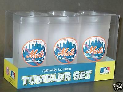 Mets Plastic Tumblers - MLB New York Mets 19 Ounce Plastic Tumblers (3 Pack)