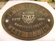 Brass Safe Plate