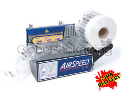AIRSPEED 6000 AIR PILLOW MACHINE ON FREE LEASE + 48 ROLLS OF FILM (500M / ROLL)